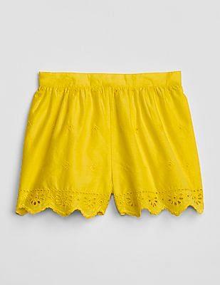 GAP Baby Eyelet Pull-On Shorts