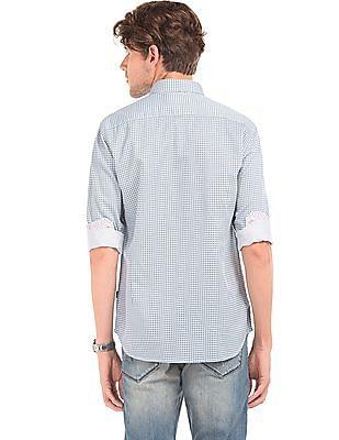 Flying Machine Geometric Print Slim Fit Shirt