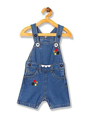 Donuts Boys Washed Denim Dungarees