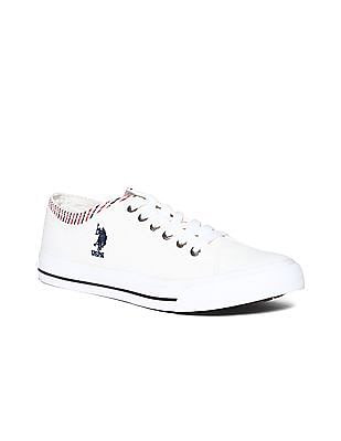 U.S. Polo Assn. Contrast Trim Canvas Sneakers