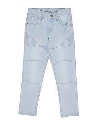 Cherokee Boys Stone Wash Panelled Jeans