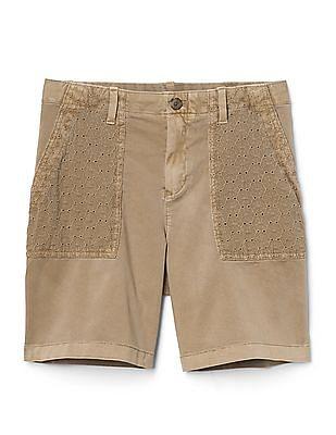 GAP Girlfriend Chino Shorts With Eyelet Pockets
