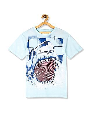 The Children's Place Blue Boys Washed Graphic T-Shirt