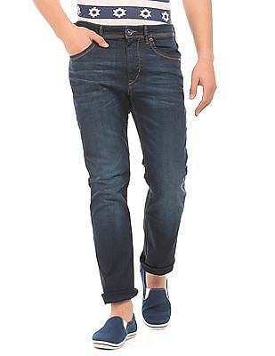 Flying Machine Stone Washed Slim Straight Fit Jeans