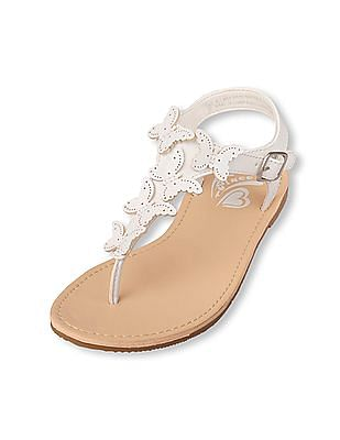 The Children's Place Girls Butterfly Thong Candy Sandal