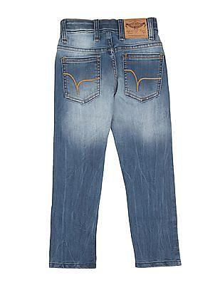 FM Boys Boys Stone Wash Skinny Jeans