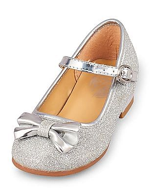 The Children's Place Baby Glitter Olivia Ballet Flats