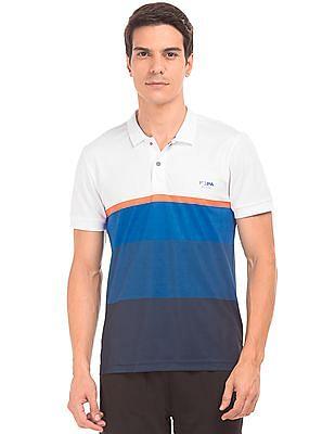 USPA Active Colour Block Active Polo Shirt
