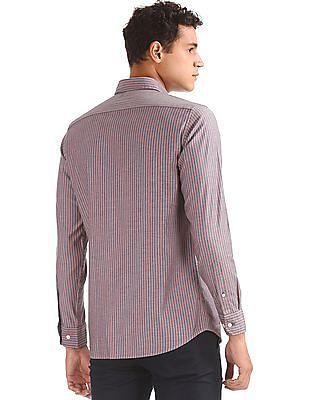 Nautica Long Sleeve Vertical Stripe Shirt