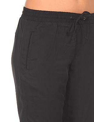 Cherokee Elasticized Drawstring Waist Solid Pants