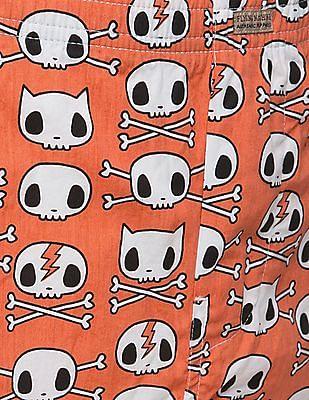 Flying Machine Skull Print Cotton Boxers