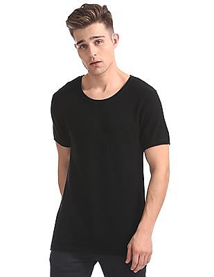 Ed Hardy Round Neck Textured T-Shirt