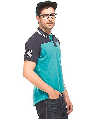 Aeropostale Colour Block Pique Polo Shirt