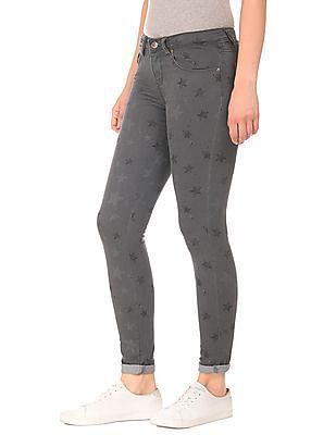Cherokee Tonal Star Print Skinny Fit Jeans