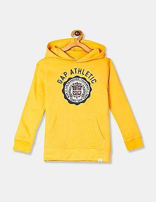 GAP Boys Yellow Hooded Pullover Sweatshirt