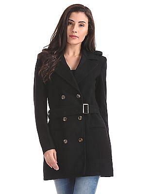 U.S. Polo Assn. Women Wool Blend Trench Coat