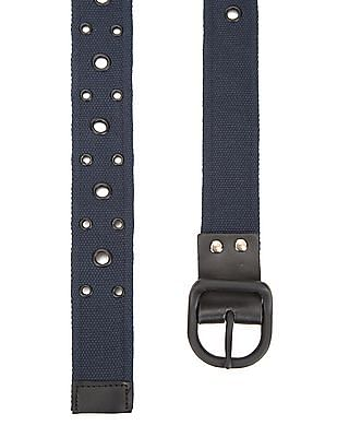 Colt Grommet Embellished Canvas belt