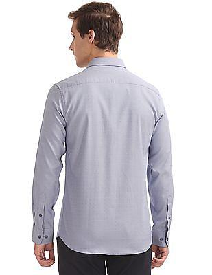 USPA Tailored Slim Fit Jacquard Shirt