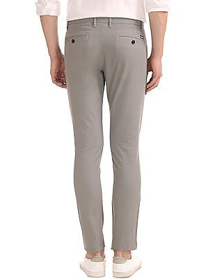 Arrow Sports Flat Front Slim Fit Chinos