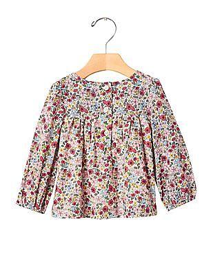 GAP Baby Floral Shirred Shirt