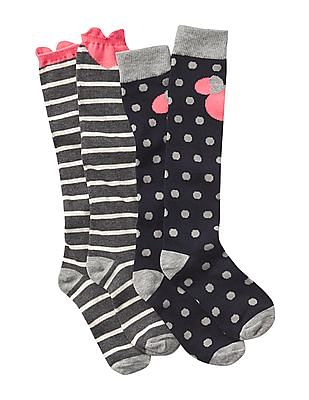 GAP Girls Assorted Disney Minnie Mouse Over The Knee Socks - Pack Of 2