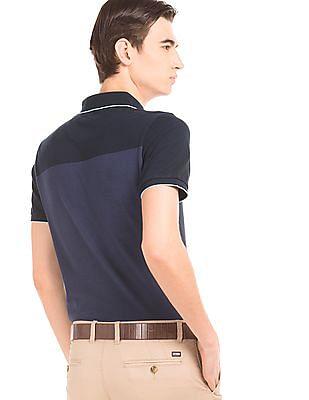 Arrow Sports Striped Cotton Polo Shirt