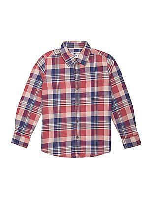 FM Boys Boys Slim Fit Check Shirt