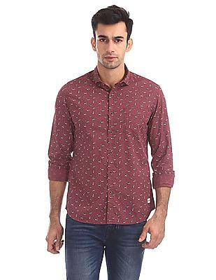 Flying Machine Slim Fit Floral Print Shirt