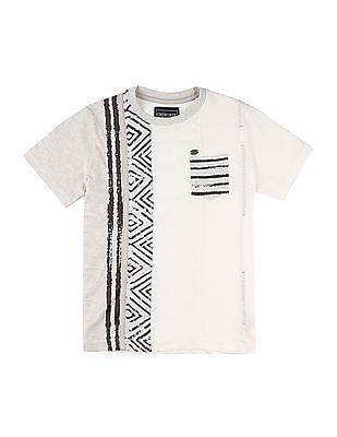 Cherokee Boys Printed Panelled T-Shirt