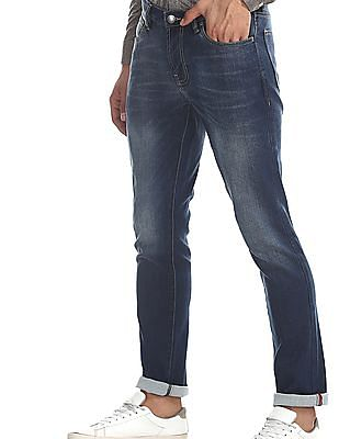 Arrow Blue Jeans Company Blue James Slim Fit Faded Jeans