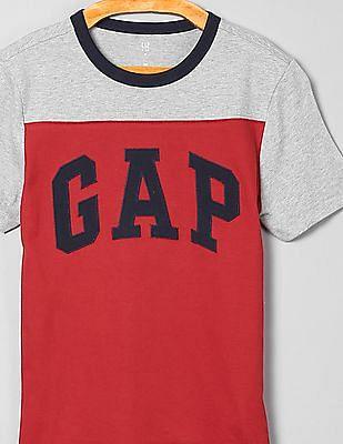 GAP Boys Colour Blocked Logo T-Shirt