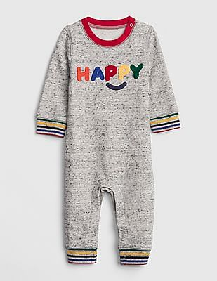 dba6c0fa8fcf Buy Baby Baby Cozy Happy Graphic One-Piece online at NNNOW.com