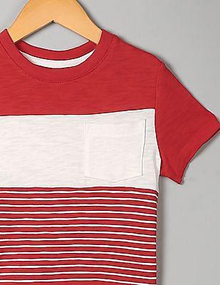 ae7eb0faa Buy Toddler Boy Toddler Boy Chest Stripe Crew Neck T-Shirt online at ...