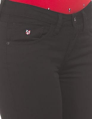U.S. Polo Assn. Women Mid Rise Skinny Fit Jeans
