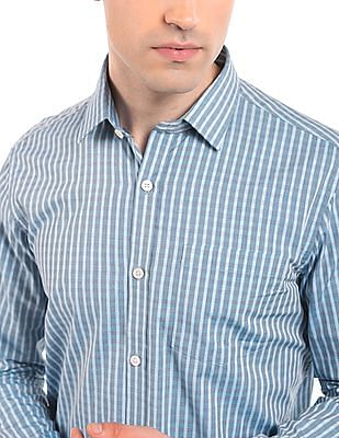 Arrow Jacquard Weave Slim Fit Shirt