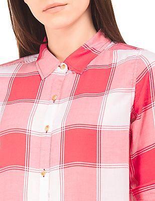 U.S. Polo Assn. Women Regular Fit Plaid Shirt