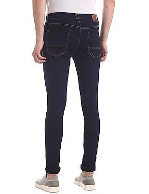 Newport Blue Low Rise Skinny Fit Jeans