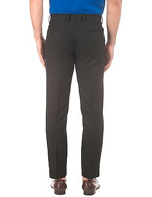 Arrow Textured Tapered Fit Trousers