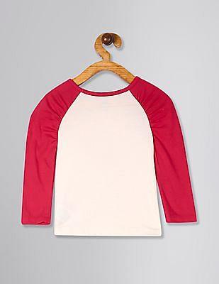 GAP Toddler Girl White Graphic Puff-Sleeve T-Shirt