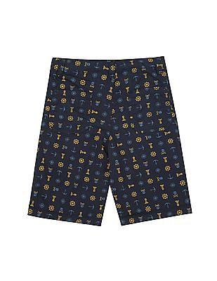 Cherokee Boys Nautical Print Cotton Shorts
