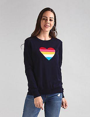 GAP Heart Graphic Crew Neck Sweater