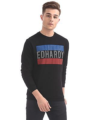 Ed Hardy Round Neck Printed Sweat Shirt