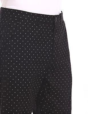 Ruggers Black Regular Fit Printed Shorts