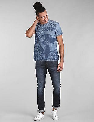 GAP Men Indigo Print Crewneck T-Shirt