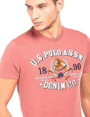 U.S. Polo Assn. Denim Co. Embroidered Heathered T-Shirt