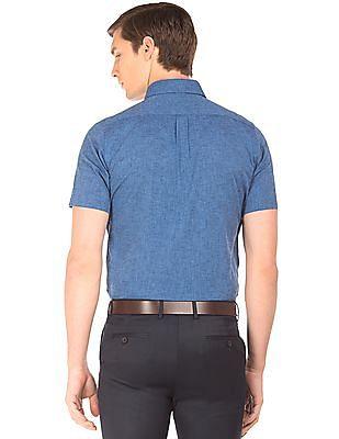 Arrow Heathered French Placket Shirt