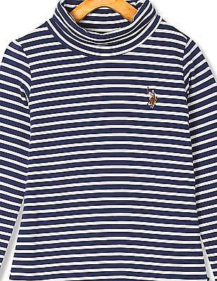 U.S. Polo Assn. Kids Girls Long Sleeve Stripe T-Shirt