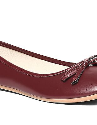 SUGR Bow Accent Round Toe Ballerinas