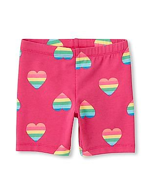 The Children's Place Toddler Girl Printed Bike Shorts