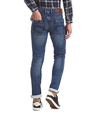 Cherokee Blue Skinny Fit Faded Jeans